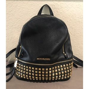 9441676f53 MICHAEL Michael Kors Bags - Michael Kors Rhea Medium Studded Leather  Backpack